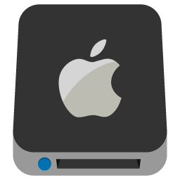 Preview of Mac drive, drive, apple logo, apple drive.