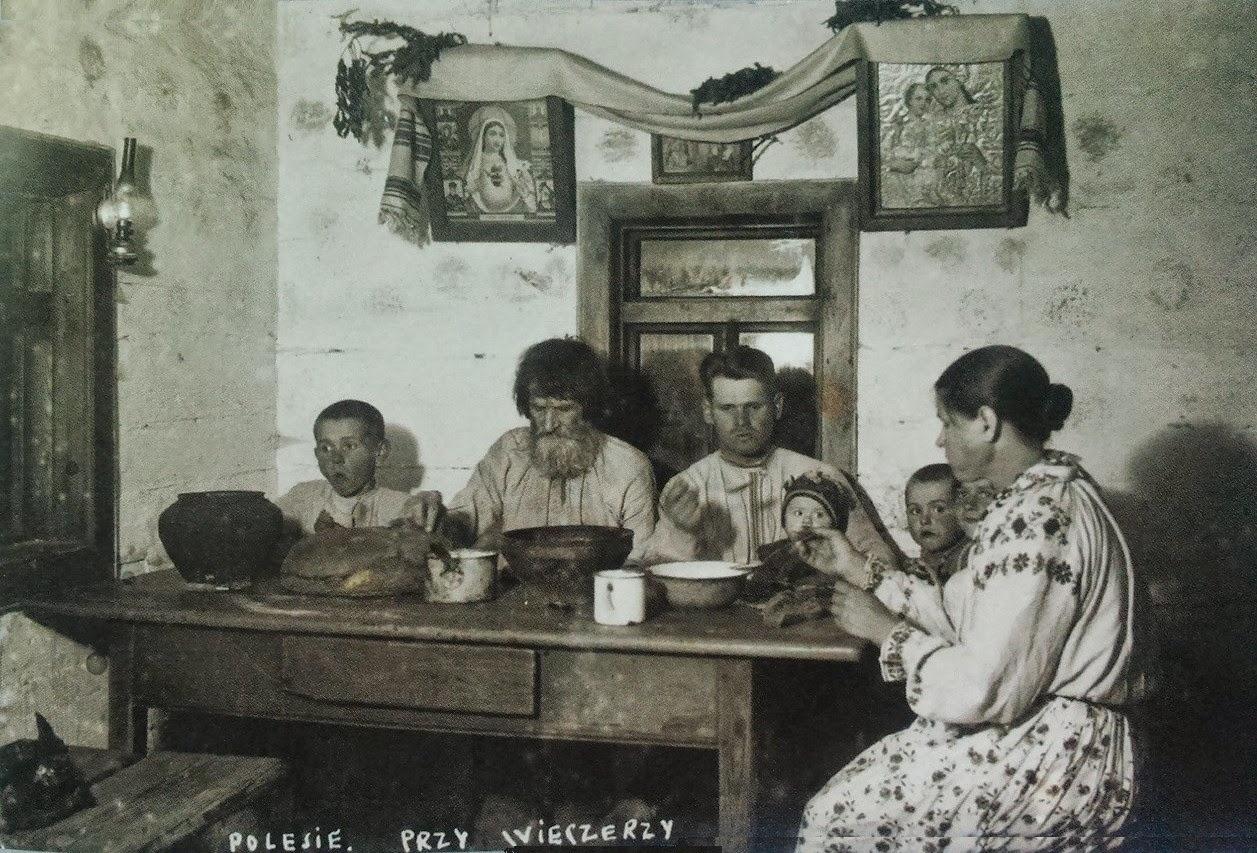 Polesie. Przy wieczerzy, 1937 r.