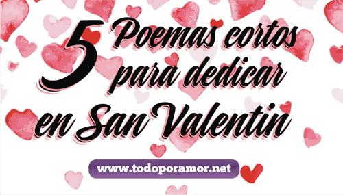 poemas cortos para San Valentin
