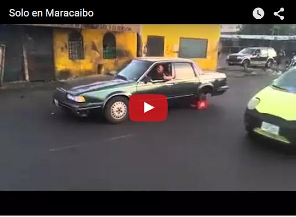 Sólo en Maracaibo reemplazan rueda por caja