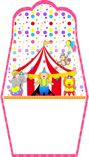 The Circus for Girls: Free Printable Purse Invitations.