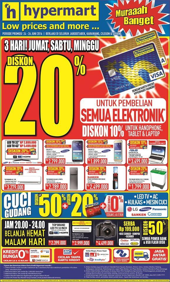 Katalog Hypermart Promo Produk Elektronik 1 – 3 Juli 2016