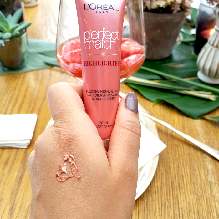 L´Oréal Paris Blogger Event am Tegernsee - Perfect Match Flüssig Highlighter Rosy Glow