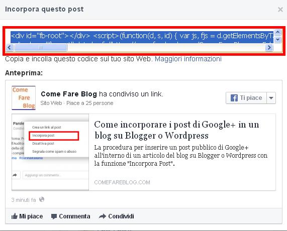 L inserimento del post permette ai publisher ed agli autori dei blog su  Wordpress o Blogger di condividere c6cdb9de467