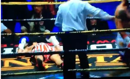 Michael Dasmarinas sent down Karim Guerfi to win the IBO World Bantamweight Title