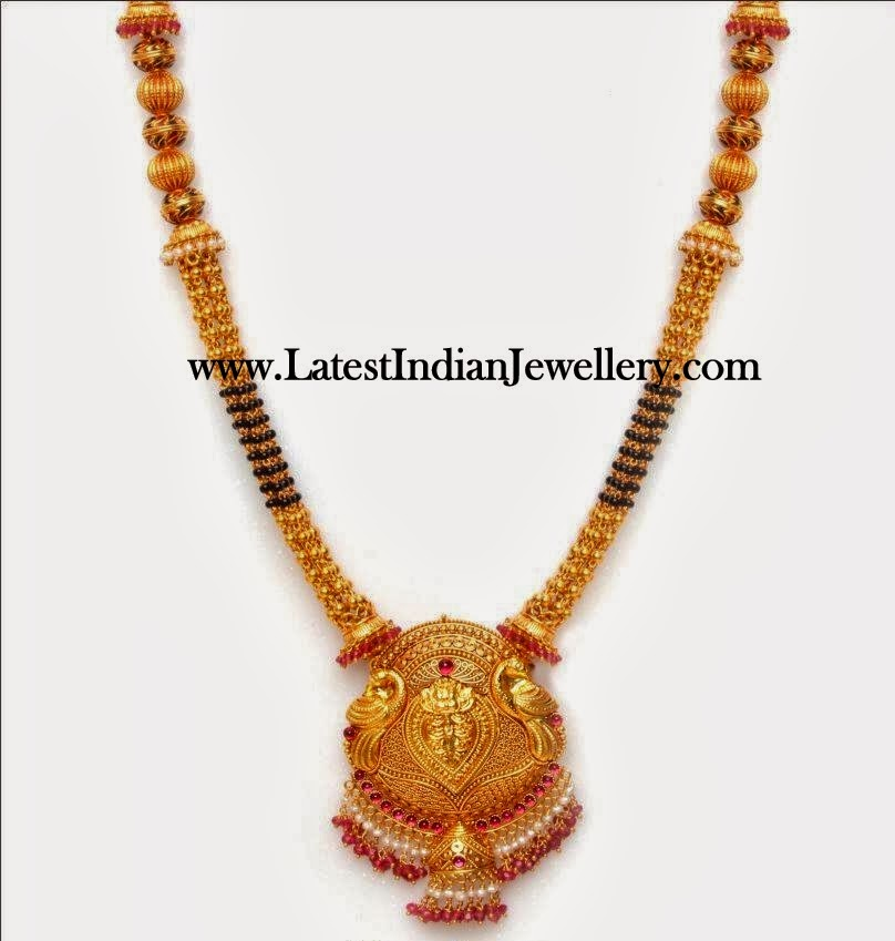 Traditional Black Beads Mangalsutra Haram