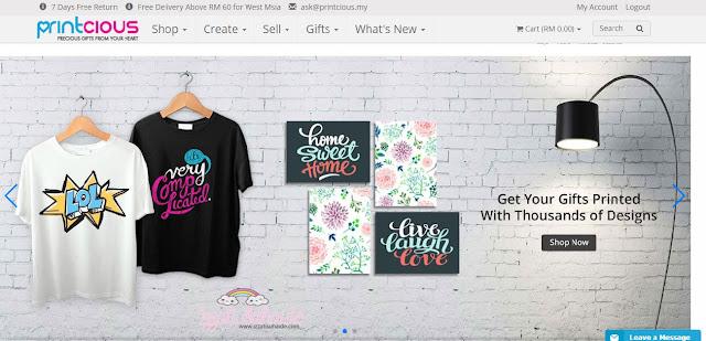 DIY Hadiah Mengikut Kreativiti Sendiri Di printcious.my