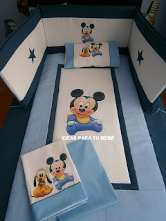Set de cuna mickey bebé