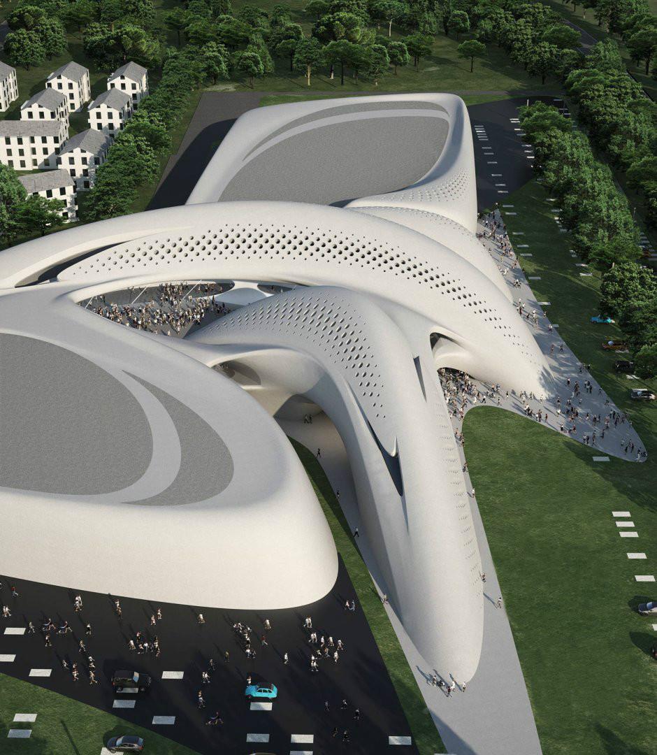 من تصميم زها الحديد معمارية عراقية