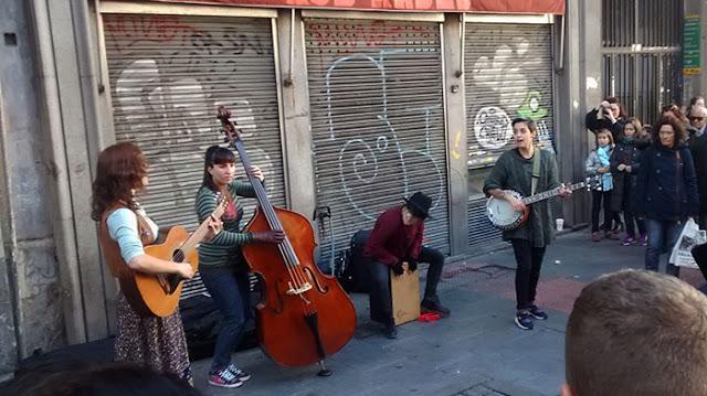 Artistas callejeros en Madrid