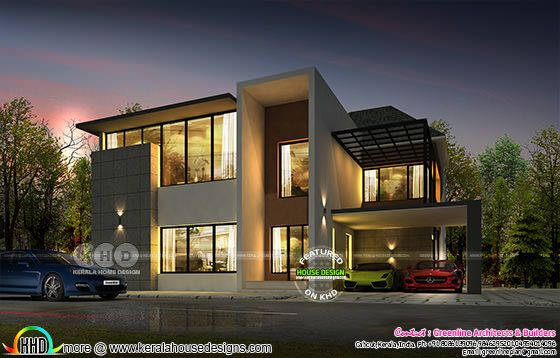 4 BHK ultra modern contemporary home plan