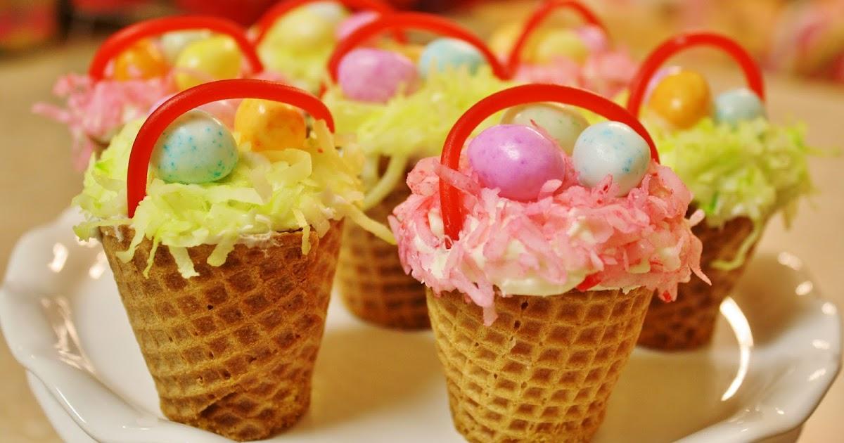 Creative Mommas Easter Basket Cupcakes