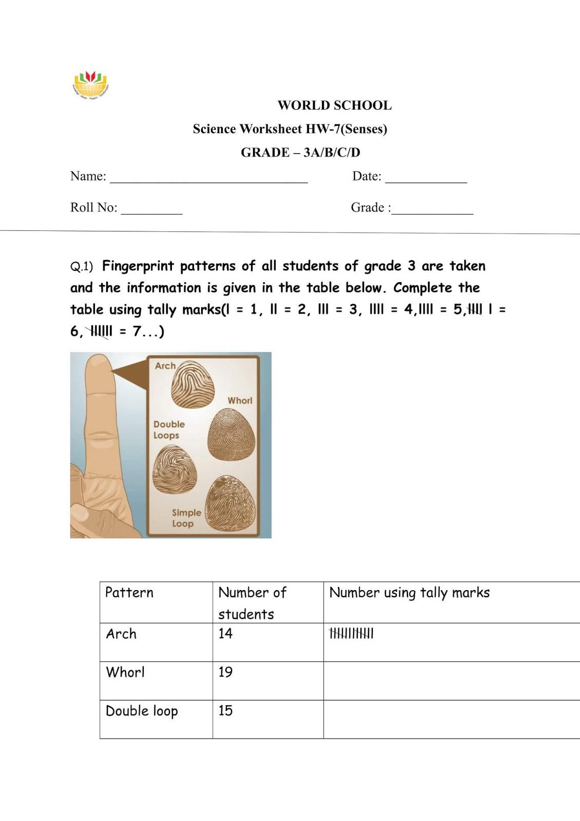 Birla World School Oman Homework For Grade 3 As On 20 2