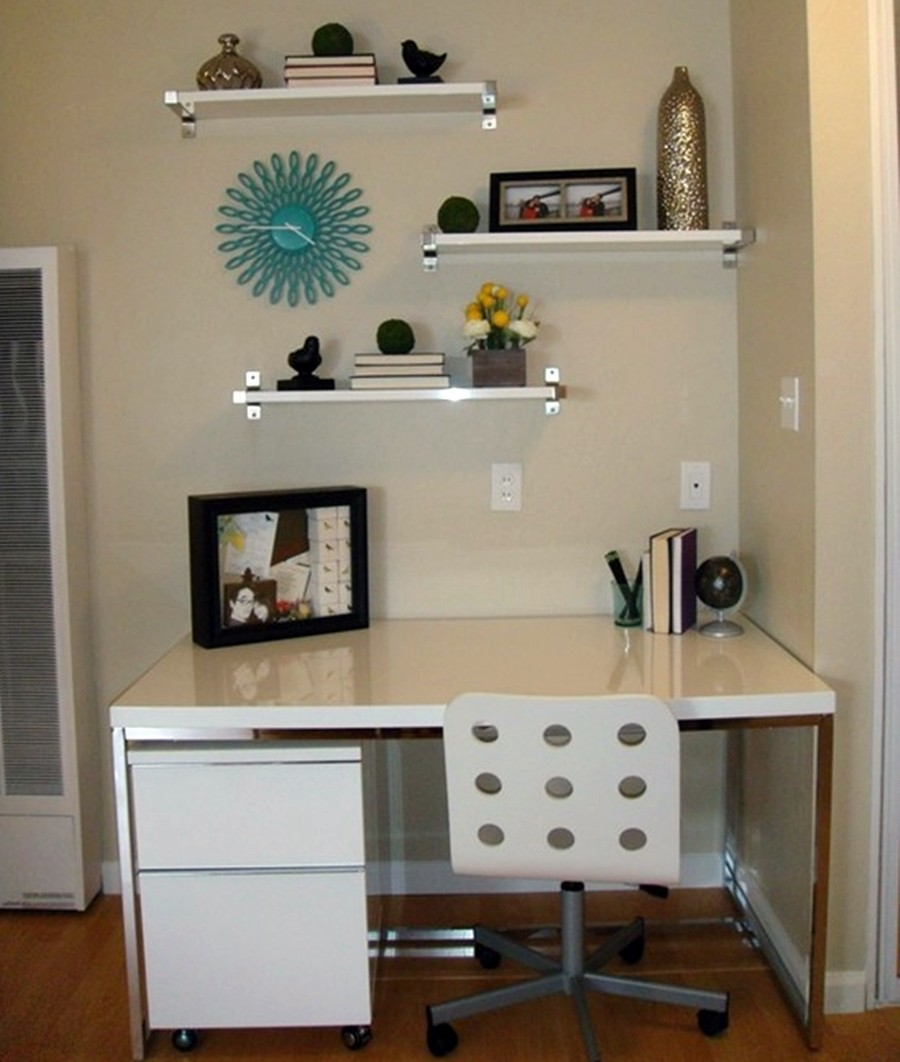 decora o de escrit rio pequeno e simples 50 fotos toda atual. Black Bedroom Furniture Sets. Home Design Ideas