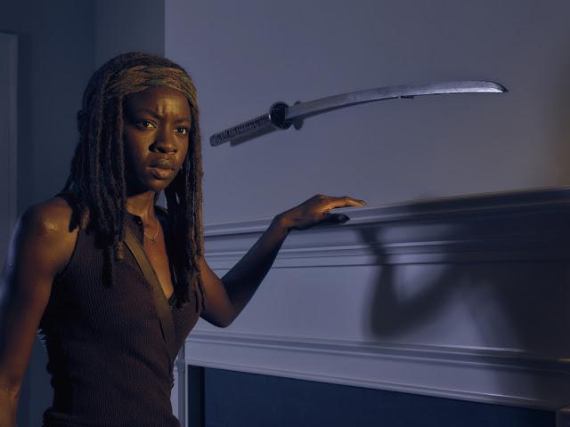 Danai Gurira como Michonne – The Walking Dead _ temporada 6, Gallery – Photo Credit: Frank Ockenfels 3/AMC