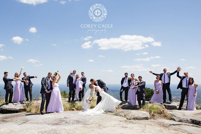 wedding party at Cliffs at Glassy | Corey Cagle Photography