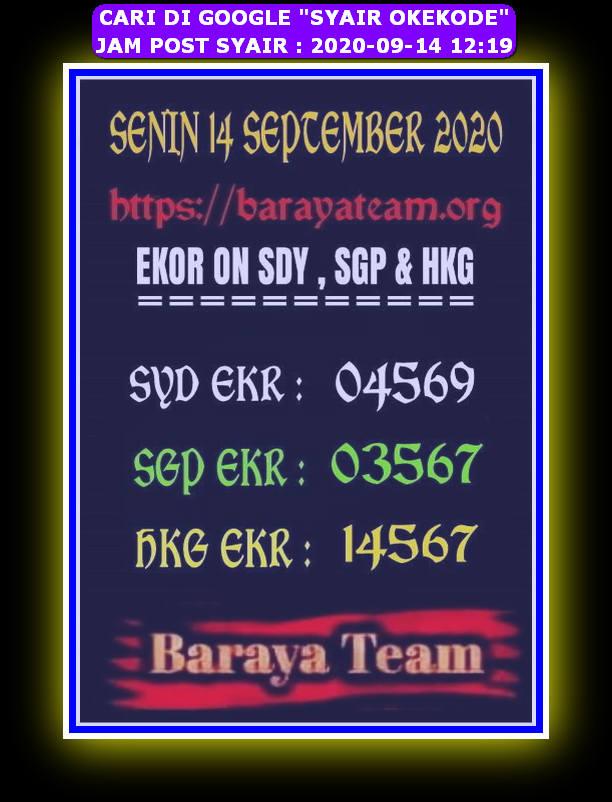 Kode syair Hongkong Senin 14 September 2020 272