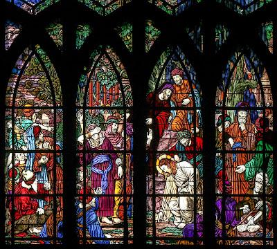 Imagem de Jesus e a pecadora, vitral, #1
