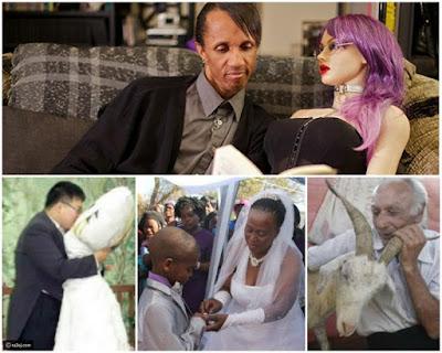 21 صور لأغرب حالات زواج في العالم بينهما حالتان في مصر