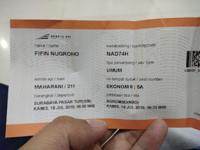 Tiket kereta Maharani Surabaya Ngrombo