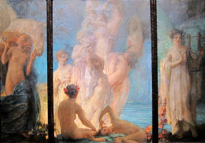 Robert Auer 1873-1952   Croatian Art Nouveau painter
