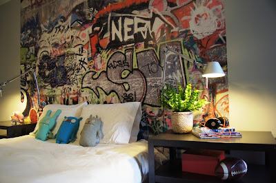 coola tapeter graffiti fototapet ungdomsrum häftiga ungdomstapeter