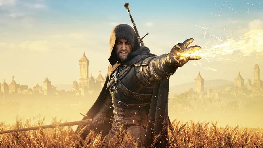 Geralt, Magic, The Witcher 3, 8K, #6.490