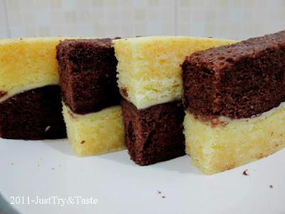 Resep Cake Kukus Lapis Coklat Keju JTT