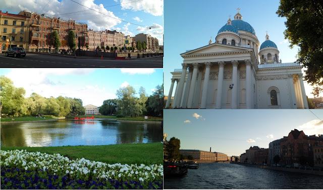 Viaje a Rusia: san Petersburgo: canales, parque Yusúpov e iglesia de la santa Trinidad