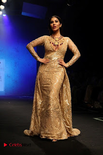Actress Model Sophie Choudry Walks On Ramp For Abha Choudhary At LFW Summer 2017  0007.jpg