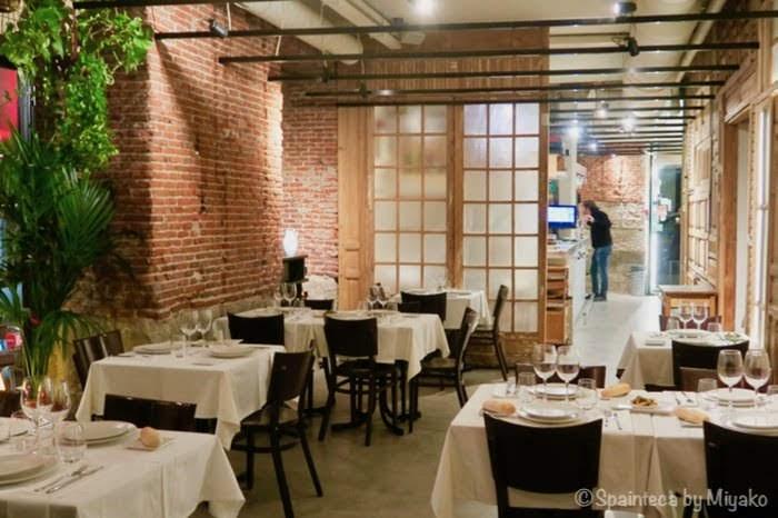 La Fragua de Sabin マドリードにあるキレイ系アンティーク調のバル・レストランの店内