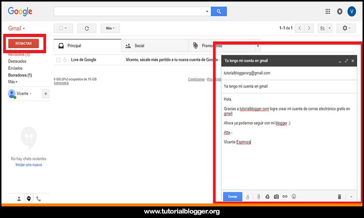 editando un mensaje en gmail