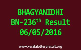 BHAGYANIDHI BN 236 Lottery Result 6-5-2016