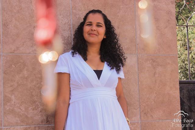Vestido branco cheio de história