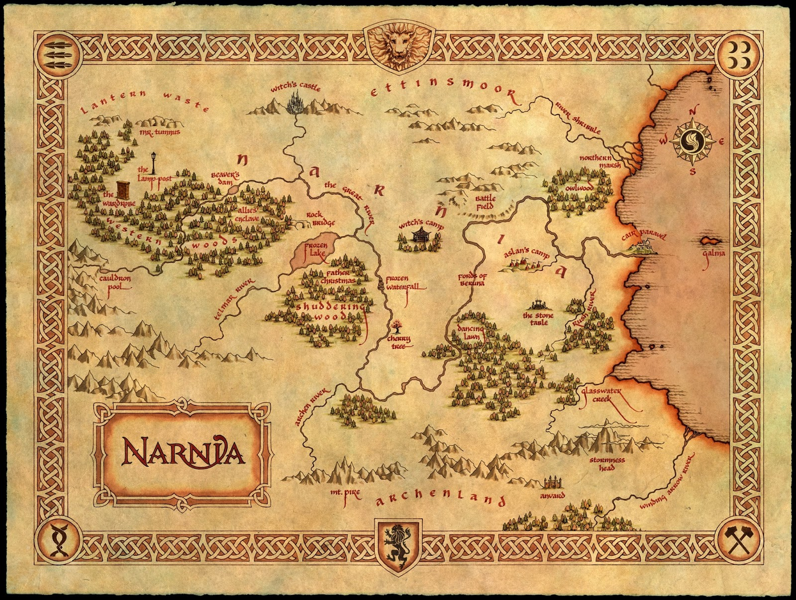 Once Upon A Time Draw A Map Of The World In Which Your Story