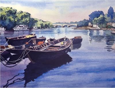 Ron Adams watercolour