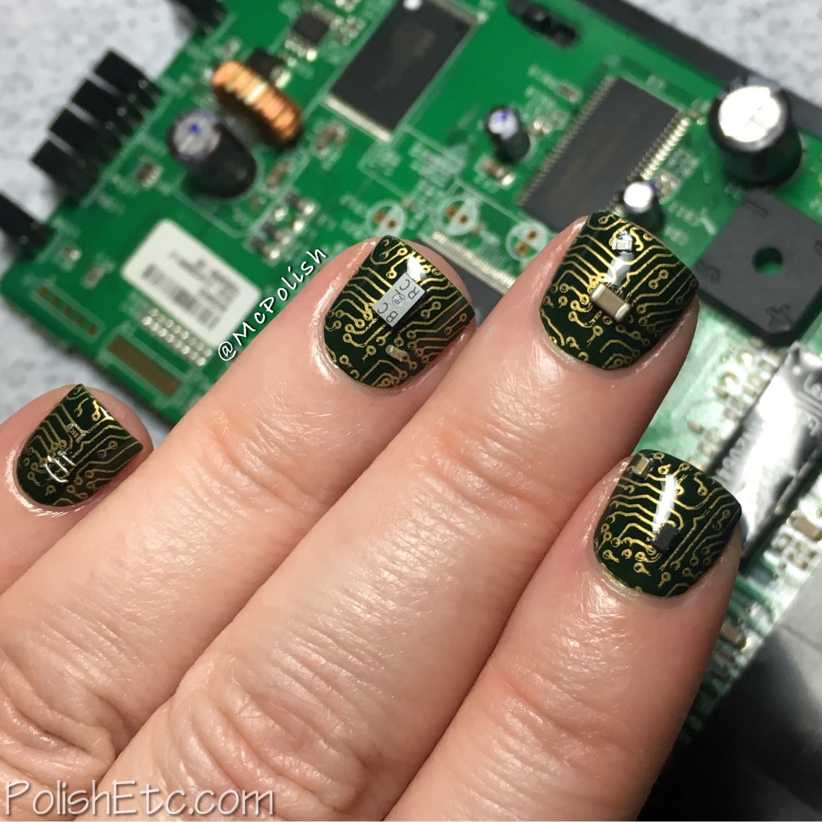 Delicate Print Nails for the #31DC2017Weekly - McPolish - motherboard nails