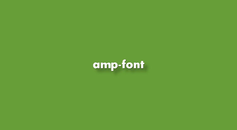 ¿Cómo insertar Amp-font?