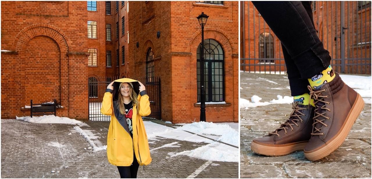 3 agagu clothing casualowy swobodny krój żółty płaszcz sztormiak kurtka na wiosnę streetstyle polski łódź moda polskie marki modowe outfit wiosna spring oversize płaszcz kurtka żółty musztardowy