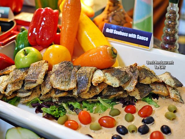 SHAH ALAM NEW YEAR 2020 HI TEA Menu - Grill Seabass with Sauce