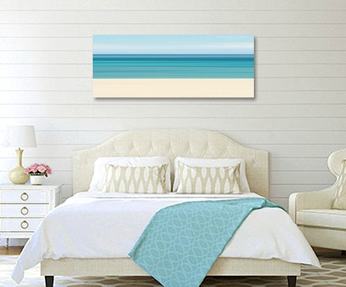 Above the bed wall decor ideas with a coastal beach theme - Over the bed art ...