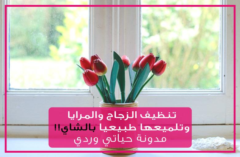 تنظيف الزجاج والمرايا وتلميعها طبيعيا بالشاي