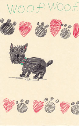 Sue Rundle Hughes Illustrator Happy Birthday Dougal Dog