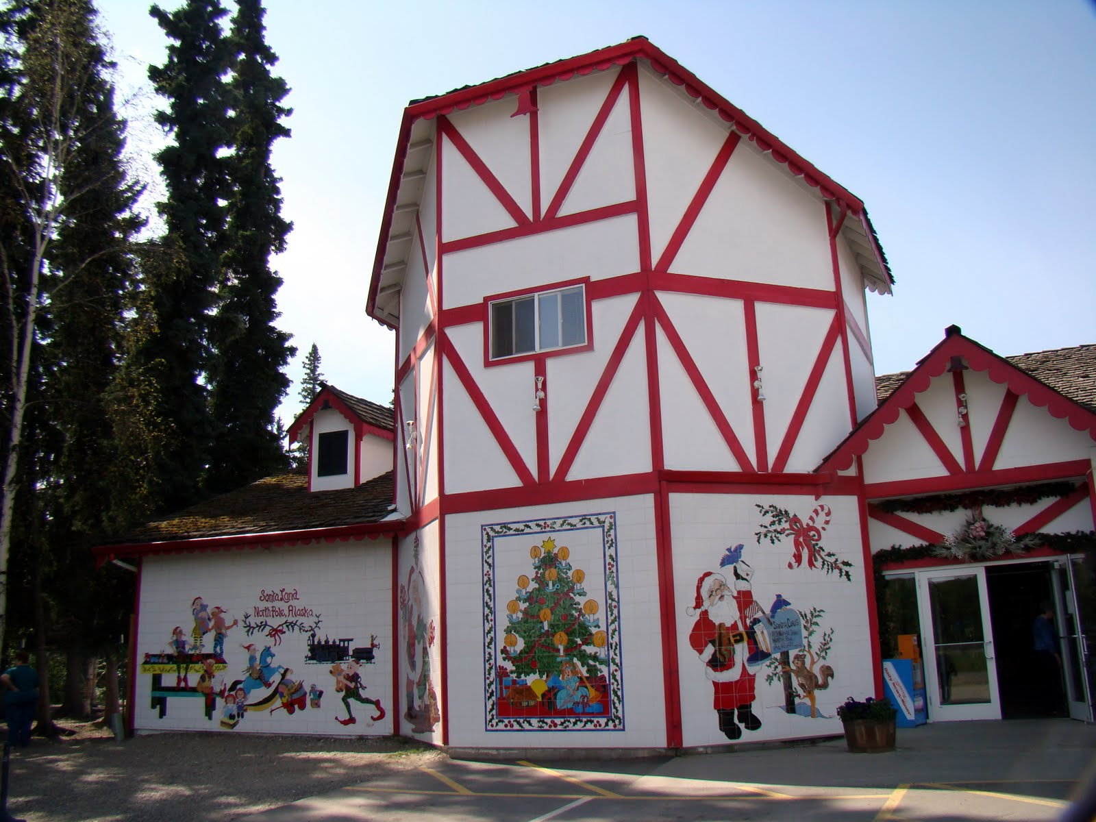 Santa Claus House North Pole Ak The Arctic Jeep Expedition Monday July 11 Tok To