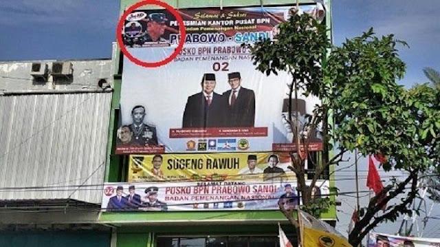 BPN Prabowo-Sandi Minta Baliho 02 yang Mengandung Foto Gatot Dimusnahkan