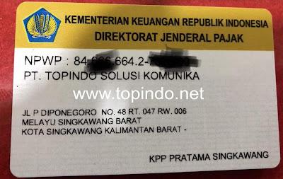 NPWP PT. Topindo Solusi Komunika