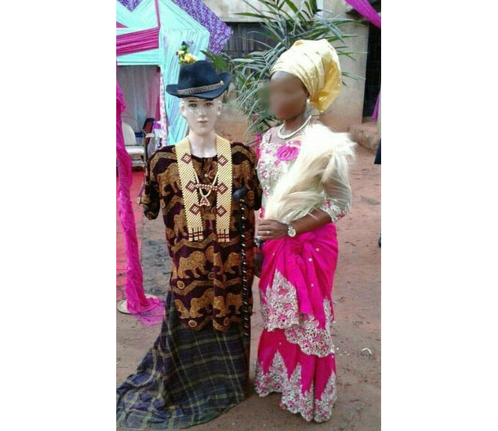Young woman weds mannequin in Anambra