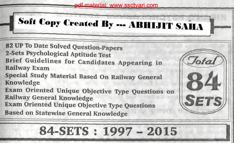 Complete KIRAN Railway Question & Answer Set   Download pdf