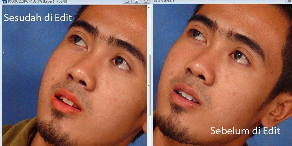 Kali ini kita akan sedikit berguru kembali untuk mengotak  Cara Praktis Memerahkan Bibir Menggunakan Adobe Photoshop