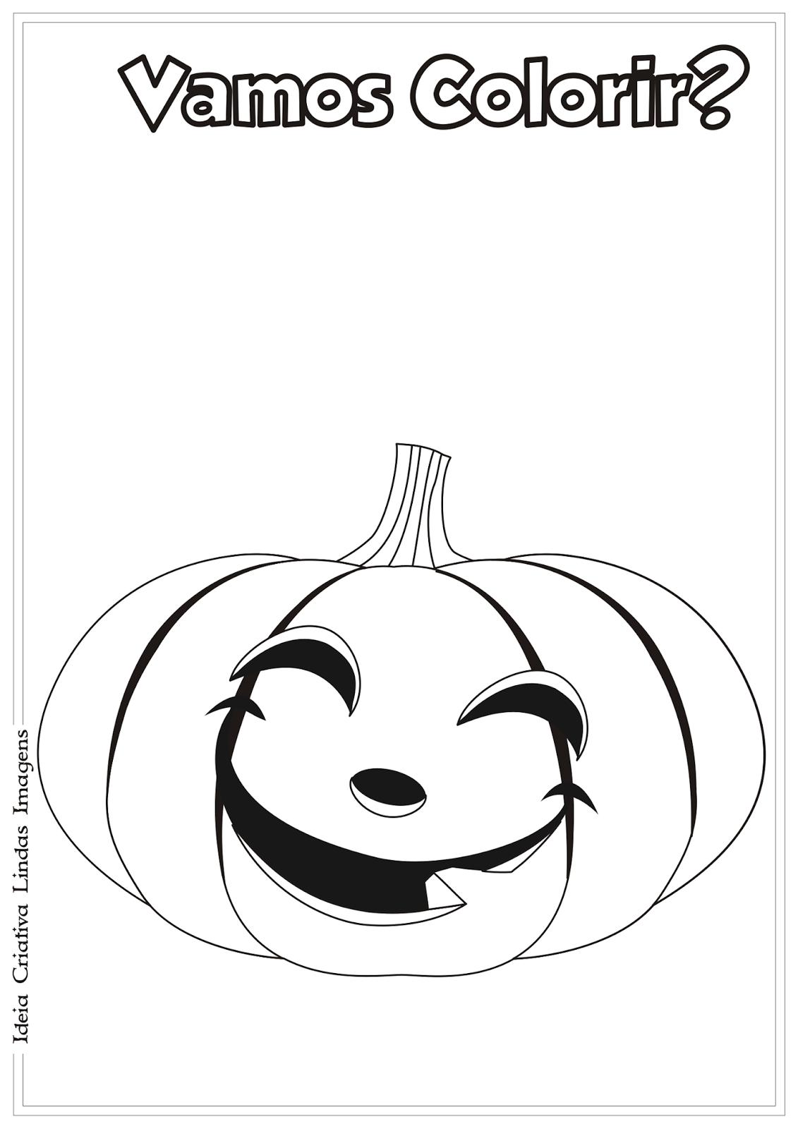 Abobora De Halloween Desenho Para Colorir